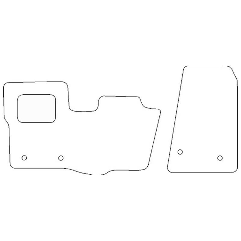 Goedkope automatten Ford Transit Custom stoel/bank 2015-heden