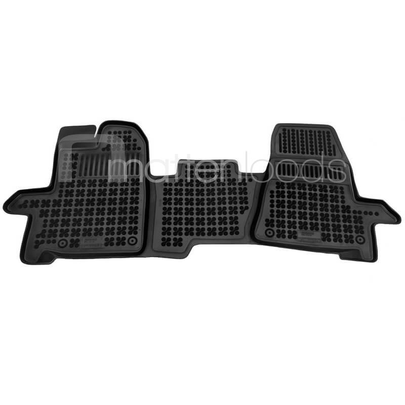 Rubber automatten Ford Transit 3 zitplaatsen 2013-2018