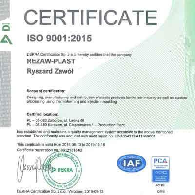 Rubber matten met certificaat