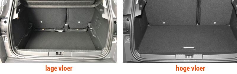 Lage of hoge vloer kofferbak